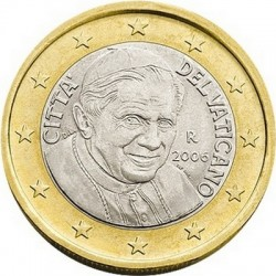 """Монета """"Ватикан - 1 евро (2006)"""""""