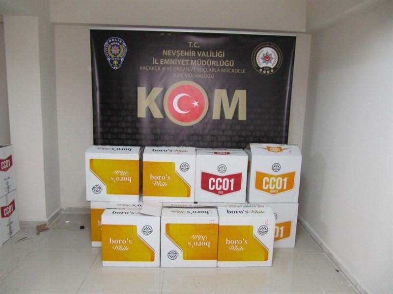 Nevşehir'de 110 bin adet boş makaron ele geçirildi