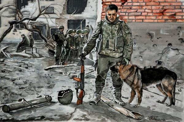картинки про войну нарисованные - Футбол