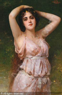 Немецкий живописец Nathaniel Sichel (1843-1907) (50 работ)