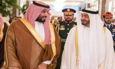 بالصور..حفاوة ترحيب محمد بن زايد بسمو ولي العهد