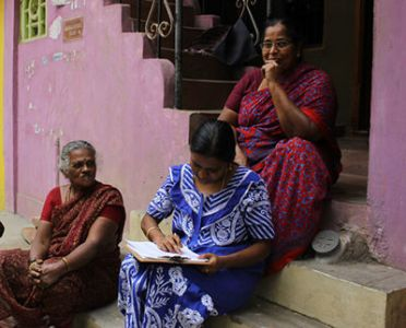 Photo 3: School teacher who participated in the survey, Chennai.