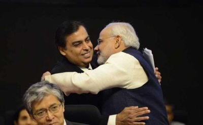 Mukesh Ambani with Modi