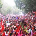 One Lakh Women Call for All India Workers Strike against Modi