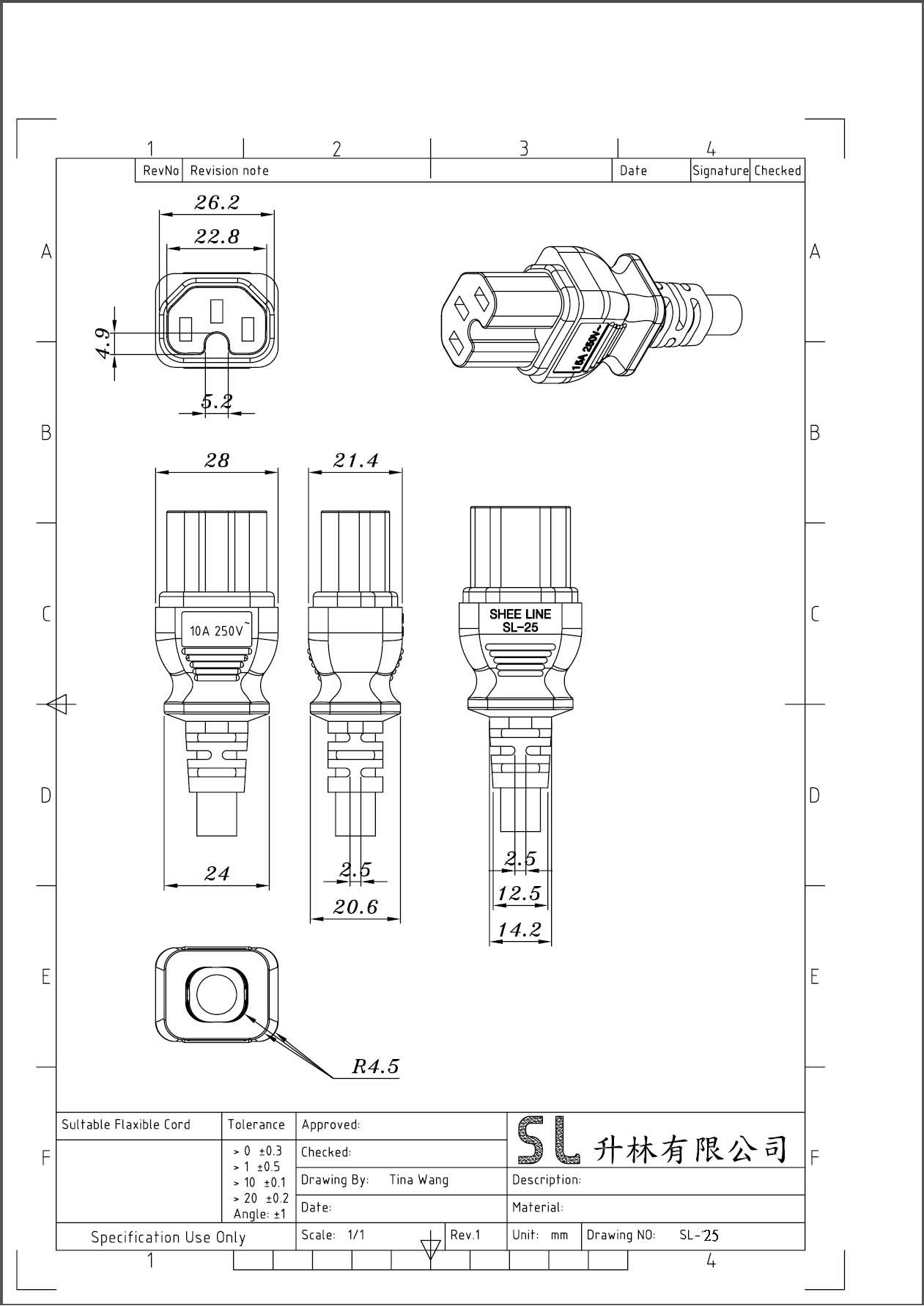 Iec 320 C15 Power Cable Power Plug