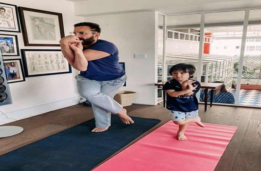Kareena Kapoor Shares Saif-Taimur Yoga Pic It Goes Viral