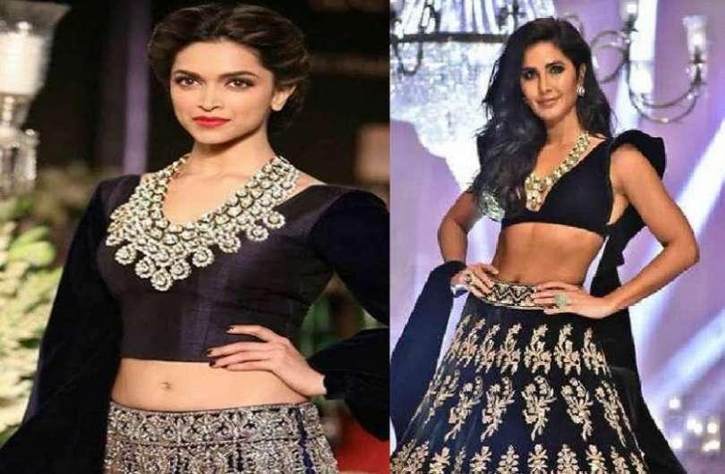 Deepika Padukone and Katrina Kaif Who wore hot Black Lehenga