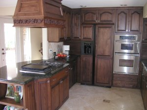 Oak cabinets stained Moorish Teak