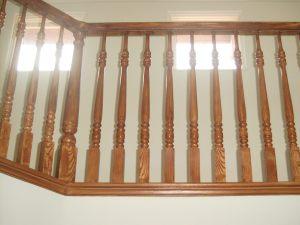 Wood grained handrail