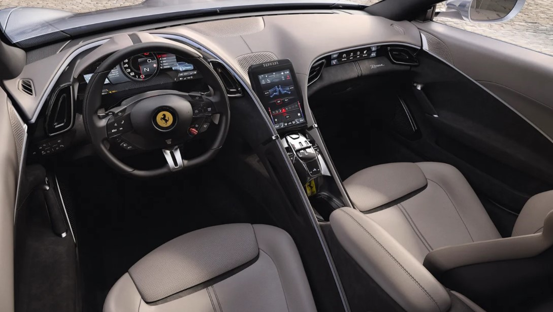 2021 Ferrari Roma Navigation and Interior