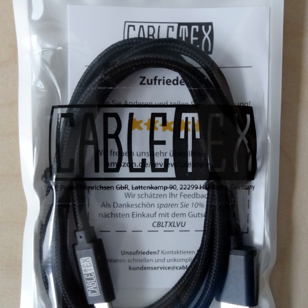 Cabletex USB 3.1 Typ C Ladekabel