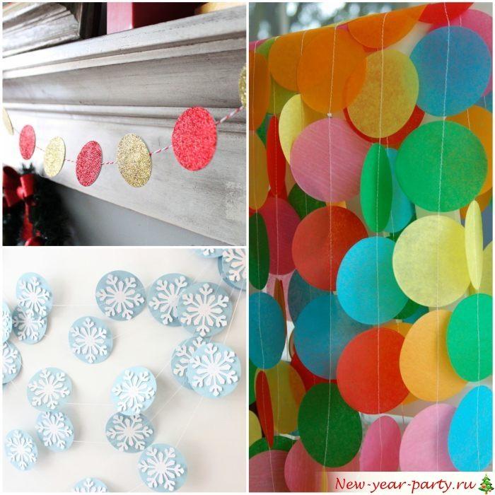 Décoration festive utilisant des cercles