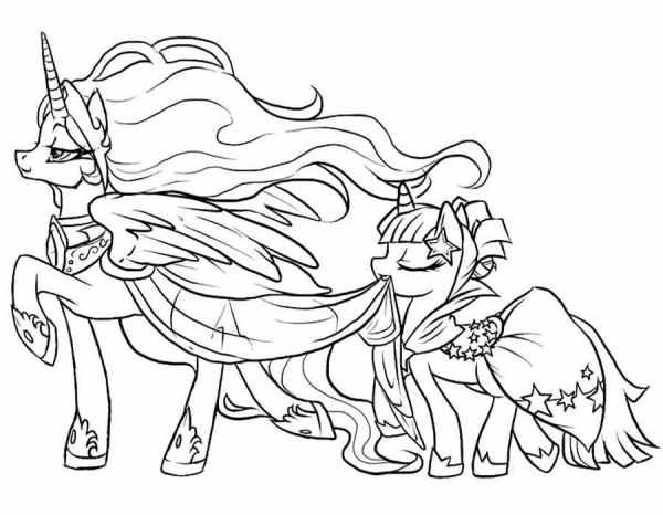 Май литл пони принцессы пони Раскраска сказочная зима