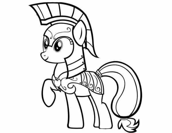 Май литл пони воин пони Раскраски зима распечатать бесплатно