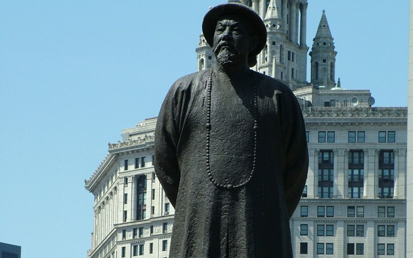 Lin-Statue in New York (Bild: NEW YORK GEHEIMTIPPS / Jürgen Kroder)