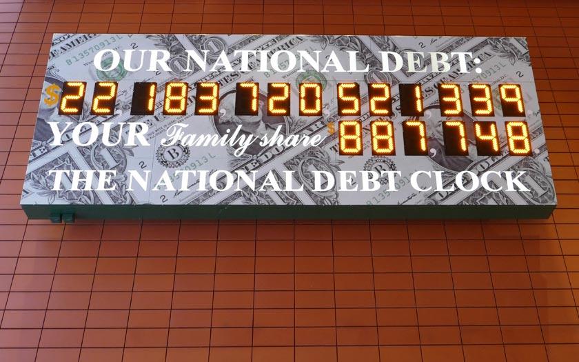 National Debt Clock in New York (Bild: Jürgen Kroder)