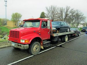 Tow truck used by James Jennings