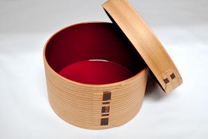 曲げわっぱ(漆塗り)丸型弁当