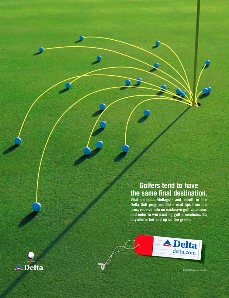 Delta Golf Destination Ad