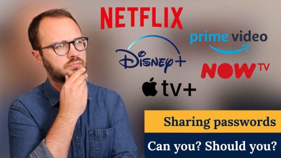 sharing netflix disney password