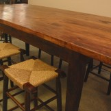 """36"""" inch high handcrafted Farm Table-Vernon Carter and James Semmens"""