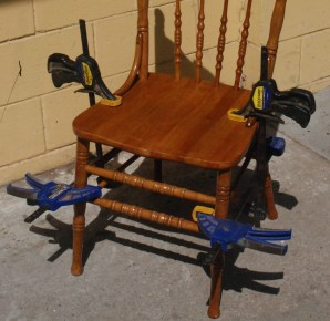 Strengthen loose chair joints.