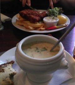 Okusna ribja kremna juha.