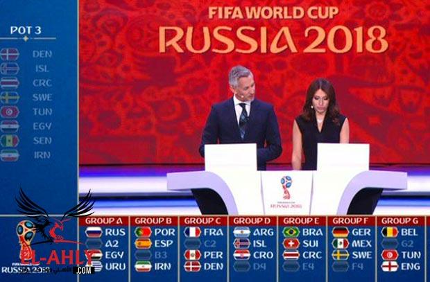 تعرف على موعد مباريات مصر في كأس العالم 2018 الأهلى كوم
