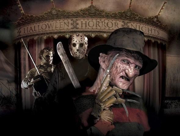 Leatherface, Jason, and Freddy haunte Universal Studios Hollywood.