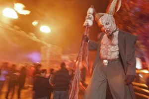 A demon at Universal Studios for Halloween Horror Nights