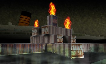 Conceptual art for Hells Belltower, the central hub of Dark Harbor