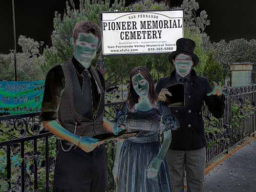Three ghosts of Pioneer Cemetery bid you enter and hear their tales...