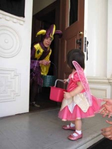 Karen Del Rio- enjoys Safe Haven Trick-or-Treating at Heritage Square Museum