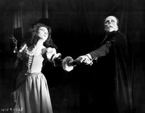 Mary Philbin and Lon Chaney