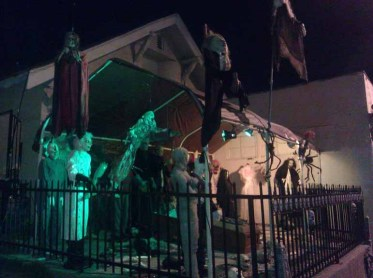 Monsters on display at the Western House of Horror
