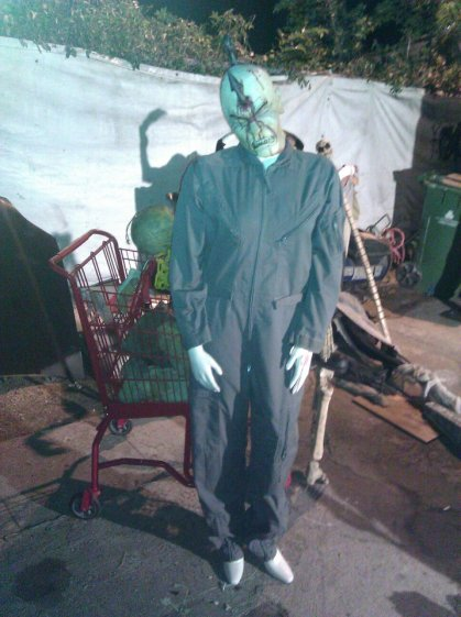A convict ghoul at Western House of Horror