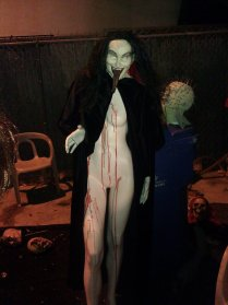 A naked mannequin vampire at Western House of Horror