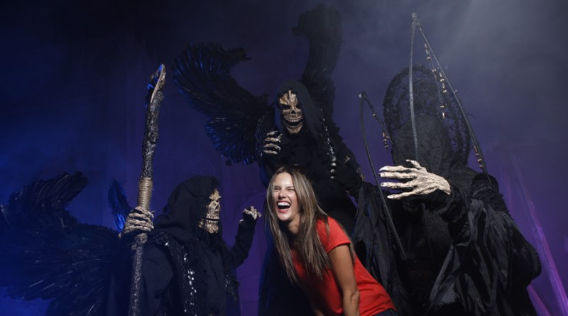 Alessandra Ambrosio Gets Sneak Peek of Universal Orlando's Halloween Horror Nights 22
