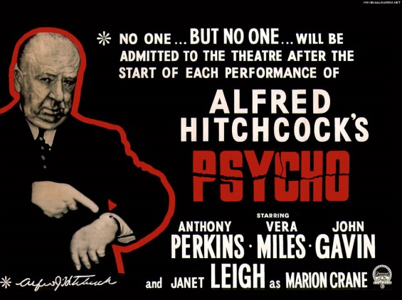 Psycho 1960 Poster with Hitchock