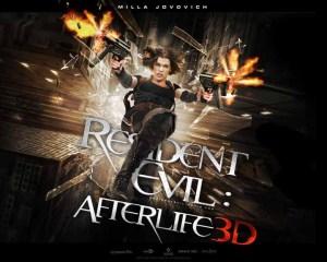 RESIDENT EVIL AFTER LIFE 3D IMAX horiztonal poster