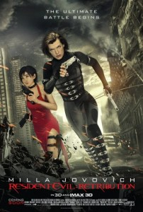 Resident Evil Retribution 3d IMAX vertical poster