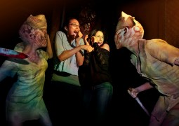 Twisted nurses in the Silent Hill maze at Halloween Horror Nights 2012