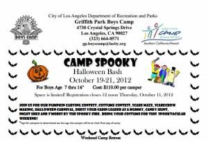 camp spooky halloween bash griffith park