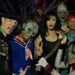 Deadmau5, Kat Von D, Tyga at Halloween Horror Nights 2012