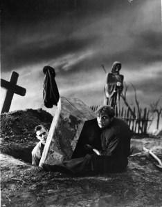 Frankenstein and Fritz gather raw materials.
