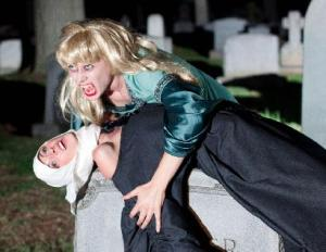 Susannah Mryvold and Katie Pelensky in Wake Not the Dead. Photo by Daniel Kitayama.