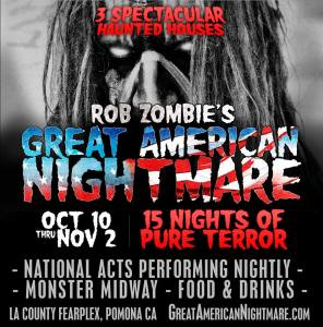 Rob Zombie's Great American Nightmare logo