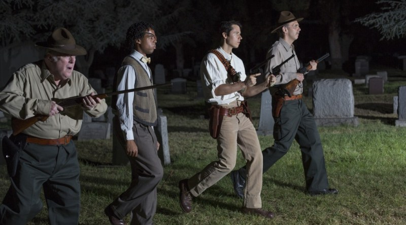 Wicked Lit 2013: The Lurking Fear: Thompson-Keitel-Pope-march-in-cemetery