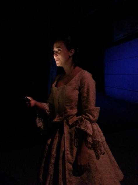"An innovative touch: actress Ilona Kulinska (as Katrina Van Tassel) provides her own illumination in a scene from ""The Legend of Sleepy Hollow."""