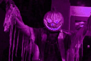 An ominous Jack O' Lantern welcomes you to Old Town Haunt
